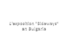 diaporama pps Exposition sideways en Bulgarie