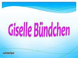 diaporama pps Giselle Bündchen