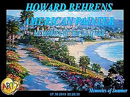diaporama pps Howard Behrens american painter