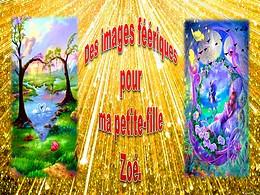 diaporama pps Images féeriques pour Zoé