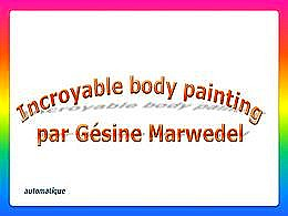 diaporama pps Body painting par Gesine Marwedel