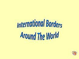 diaporama pps International borders around the world