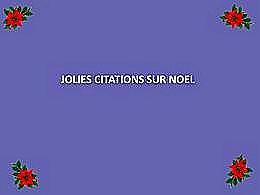 diaporama pps Jolies citations sur Noël