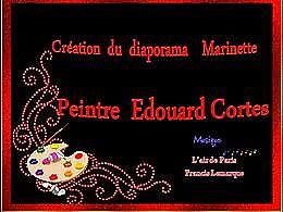 diaporama pps L'art du peintre Edouard Cortes