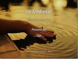diaporama pps La tendresse – Silence et gouttes d'eau