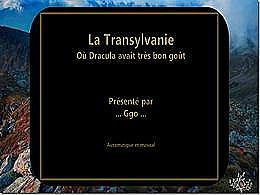 diaporama pps La Transylvanie Dracula