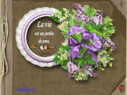 diaporama pps La vie est un jardin de joies