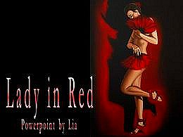 diaporama pps Lady in red