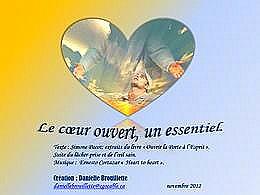 diaporama pps Le coeur ouvert un essentiel