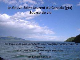 diaporama pps Le fleuve Saint-Laurent