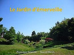 diaporama pps Le jardin d'émerveille