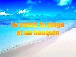 diaporama pps Le soleil la plage et un bouquin