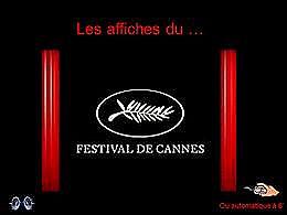 diaporama pps Affiches du festival de Cannes jusqu'en 2015