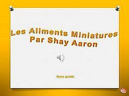 diaporama pps Les aliments miniatures 1