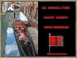 diaporama pps Les gondoles à Venise