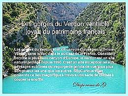 diaporama pps Les gorges du Verdon