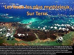 diaporama pps Les lieux les plus mystérieux sur terre