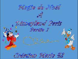diaporama pps Magie de Noël à Disneyland Paris