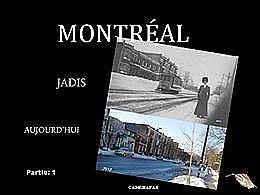diaporama pps Montréal jadis et aujourd'hui partie 1