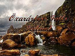 diaporama pps Öxarárfoss falls iceland