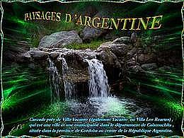 diaporama pps Paysages d'Argentine