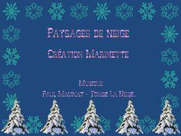 diaporama pps Paysages de neige