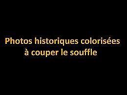 diaporama pps Photos historiques colorisées