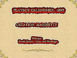diaporama pps Playboy – Calendrier 1890