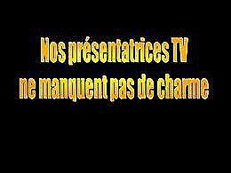 diaporama pps Présentatrices tv charmes