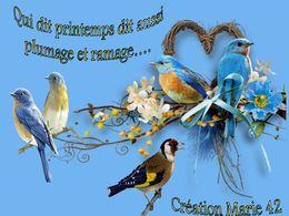 diaporama pps Qui dit printemps dit plumage et ramage