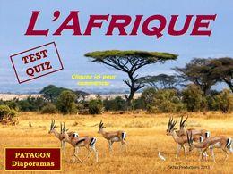diaporama pps Quiz Afrique