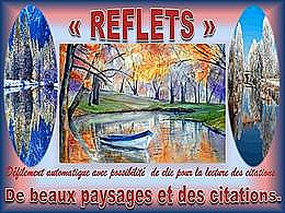 diaporama pps Reflets, paysages et citations