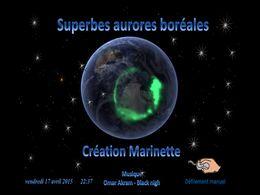 diaporama pps Superbes aurores boréales
