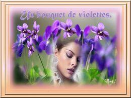 diaporama pps Un bouquet de violettes