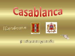 diaporama pps Ville de Casablanca