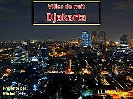 diaporama pps Villes de nuit Djakarta