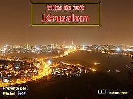 diaporama pps Villes de nuit Jérusalem