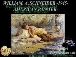 diaporama pps William Schneider 1945 american painter