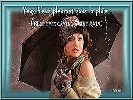diaporama pps Yeux bleus pleurant sous la pluie