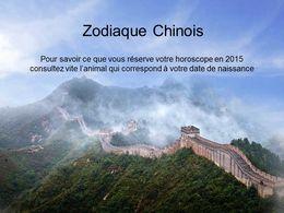 diaporama pps Zodiaque chinois