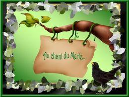 diaporama pps Au chant du merle