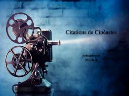 diaporama pps Citations de cinéastes
