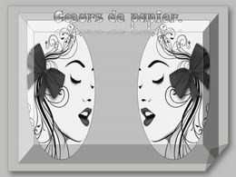 diaporama pps Cœurs de papier