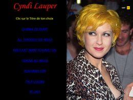 diaporama pps Cyndi Lauper
