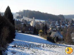 diaporama pps Décors d'hiver à Aspach Haut-Rhin