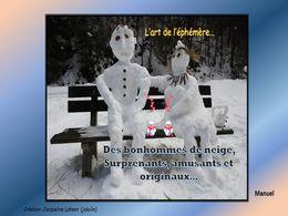 diaporama pps Des bonhommes de neige surprenants