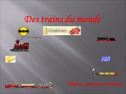 diaporama pps Des trains du monde