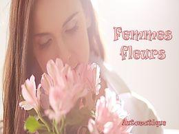 diaporama pps Femmes fleurs