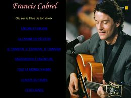 diaporama pps Francis Cabrel