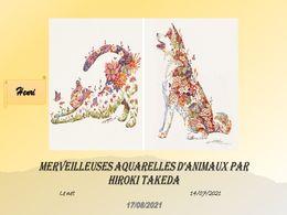 diaporama pps Merveilleuses aquarelles d'animaux – Hiroki Takeda